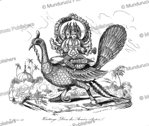 Kartikeya, the Hindu god of war, Louis Auguste de Sainson, 1834 | Photos and Images | Travel