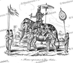 Painting representing the Hindu god Krishna, Louis Auguste de Sainson, 1834 | Photos and Images | Travel