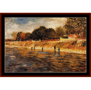 Banks of the Seine, 1887 -Van Gogh cross stitch pattern by Cross Stitch Collectibles | Crafting | Cross-Stitch | Other