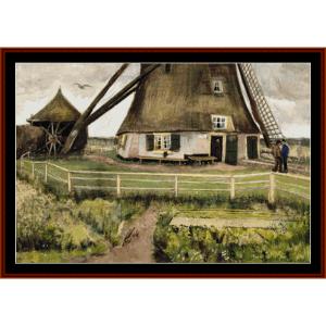 The Windmill-Van Gogh cross stitch pattern by Cross Stitch Collectibles | Crafting | Cross-Stitch | Other