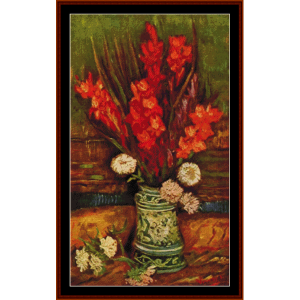 Vase with Red Gladiolas -Van Gogh cross stitch pattern by Cross Stitch Collectibles | Crafting | Cross-Stitch | Other