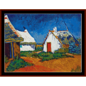 cottages at sainte maries -van gogh cross stitch pattern by cross stitch collectibles