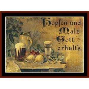 gobfen und malz - custom cross stitch pattern by cross stitch collectibles