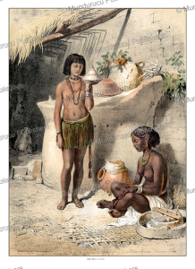 Nubian females, Kanoosee tribe, d'Avennes Prisse, 1851 | Photos and Images | Travel