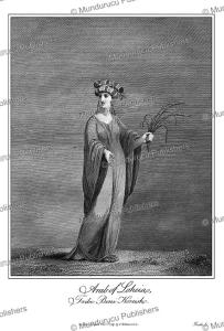arab woman of the beni koresh tribe, egypt, james bruce, 1740