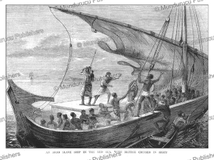 an arab slave ship in the red sea, horace harral, 1874