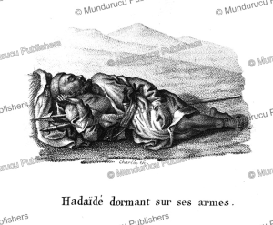 Haidai¨de man sleeping with his arms, Arabia, F. Massard, 1816   Photos and Images   Travel