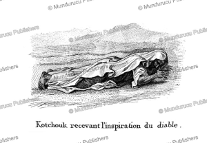 kotchouk arab receiving inspiration from the devil, f. massard, 1816
