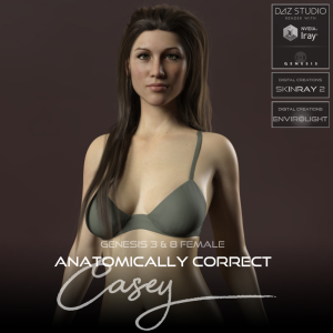 anatomically correct: casey for genesis 3 and genesis 8 female