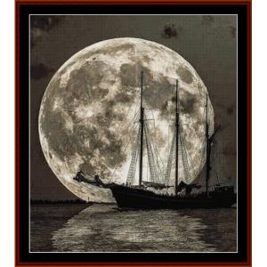 Moonlit Voyage - Fantasy cross stitch pattern by Cross Stitch Collectibles | Crafting | Cross-Stitch | Other