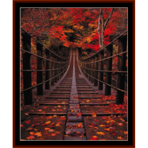 Bridge in Autumn - Nature cross stitch pattern by Cross Stitch Collectibles | Crafting | Cross-Stitch | Other