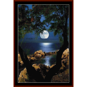 moonlight serenity - nature cross stitch pattern by cross stitch collecitbles