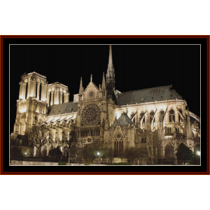 Tribute to Notre Dame cross stitch pattern by Cross Stitch Collectibles | Crafting | Cross-Stitch | Other