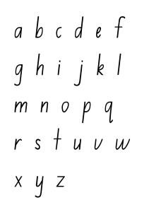 alphabet chart lower case