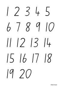 Number Chart to 20 | Documents and Forms | Other Forms