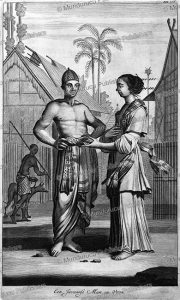 man and woman of java, jan nieuwhof, 1652