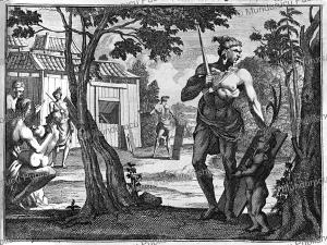 Warrior of Malabar (India) in 1636, Jean-Albert de Mandelslo, 1732 | Photos and Images | Travel