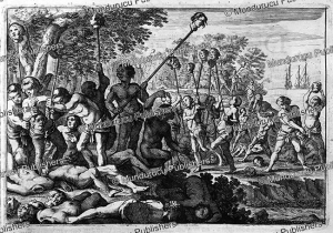 tapuya indians killed and beheaded by blacks of the city of recife (mauritsstad), jan nieuwhof, 1652