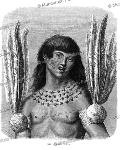 Ticuna Indian, Peru, E´douard Riou, 1867 | Photos and Images | Travel