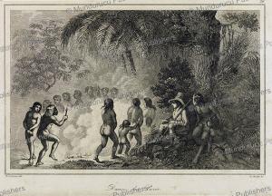 puri´ indian dance, brazil,h. lalaisse, 1846