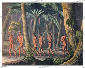 Puri´ Indians in the forest, Giulio Ferrario, 1827 | Photos and Images | Travel