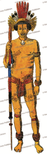 apiaca´ warrior, hercule florence, 1841
