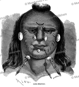 Mayoruna Indian, Brazil, E´douard Riou, 1867 | Photos and Images | Travel