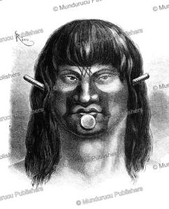 Passe´ warrior, Brazil, E´douard Riou, 1867 | Photos and Images | Travel