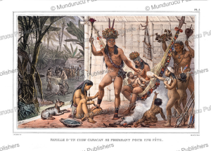 Camacan family preparing a feast, Brazil, Jean Baptiste Debret, 1835   Photos and Images   Travel