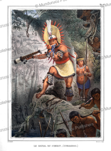 Coroado chief signalling the attack, Brazil, Jean Baptiste Debret, 1835 | Photos and Images | Travel