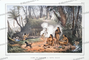 Indian encampment in Canta-Gallo, Brazil, Jean Baptiste Debret, 1835 | Photos and Images | Travel