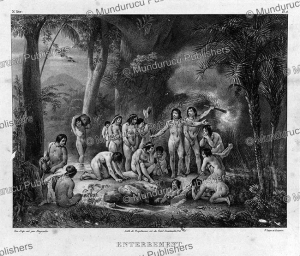 Indian burial, Brazil, Johann Rugendas, 1835 | Photos and Images | Travel