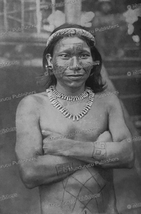 Amazonian Indian with tattoos, Fritz Up de Graff, 1928 | Photos and Images | Travel