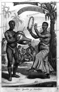 Black slaves playing music in Dutch Brazil, Jan Nieuwhof, 1652 | Photos and Images | Travel