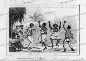 Battuca slaves dance in Sao Paulo, Brazil, Vander Burch, 1837 | Photos and Images | Travel