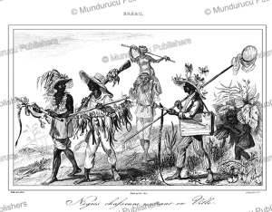 Negros returning from a hunt, Brazil, Jean Baptiste Debret, 1837 | Photos and Images | Travel