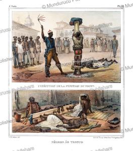 Punishment of slaves, Brazil, Jean Baptiste Debret, 1835   Photos and Images   Travel