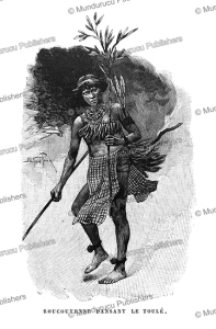 Roucouyenne indian dancing the Toule´ in honour of a deceased, French Guiana, E´douard Riou, 1895 | Photos and Images | Travel