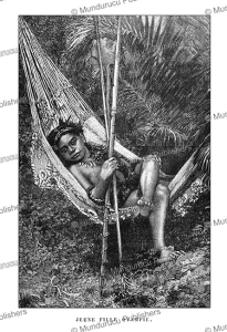 Young girl of the Oyampi Indians, French Guiana, E´douard Riou, 1895   Photos and Images   Travel
