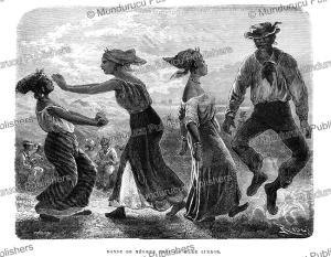 Negros dancing near the Lindor sea, French Guiana, E´douard Riou, 1867   Photos and Images   Travel