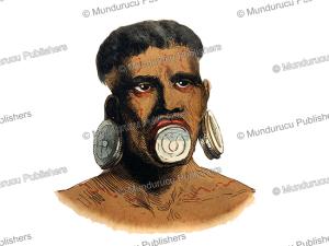 Botocudo man, L. Markaert, 1844 | Photos and Images | Travel