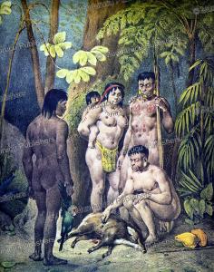 Botocudo family, Johann Rugendas, 1835 | Photos and Images | Travel