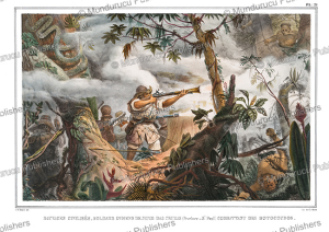 Civilised Indians fighting Botocudo Indians, Brazil, Jean Baptiste Debret, 1835 | Photos and Images | Travel