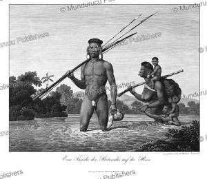Botocudo family crossing a river, Prinz zu Wied-Neuwied, 1821 | Photos and Images | Travel