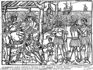 cannibalism among tupi speaking people, brazil, 1505