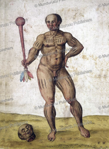 tupinamba´ warrior, brazil, jean de le´ry, 1600