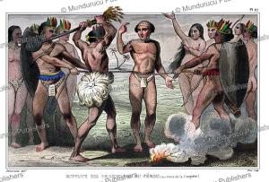 tupinamba´ capital punishment, brazil, demoraine, 1844