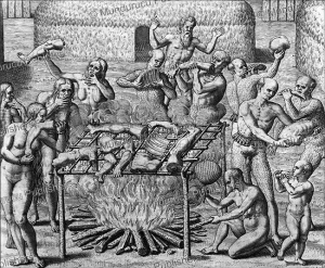 Tupinamba´ Indians cooking and eating the bodies of Prisoners, Brazil, Theodoor de Bry, 1557 | Photos and Images | Travel