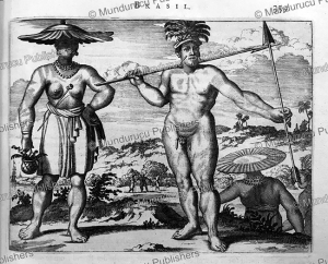 Brazilians at the time of the conquest, Arnoldus Montanus, 1671 | Photos and Images | Travel