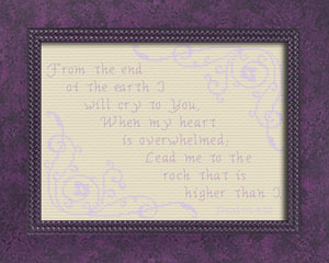 Lead me to the rock | Crafting | Cross-Stitch | Other